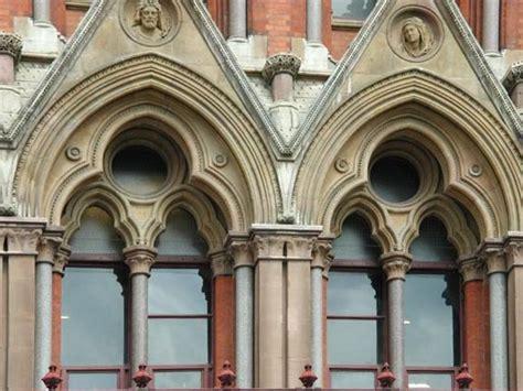 Ruskinian Gothic Windows, St. Pancras Station, London
