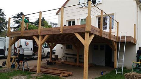 nivrem realiser une terrasse en bois sur pilotis diverses id 233 es de conception de patio