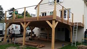 nivremcom realiser une terrasse en bois sur pilotis With realiser une terrasse sur pilotis