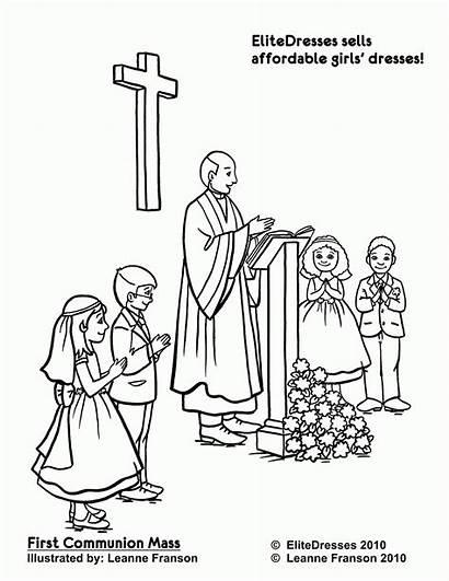 Coloring Pages Communion Sacraments Catholic Reconciliation Popular