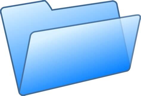 sous bureau transparent image vectorielle gratuite dossier fichier bleu bureau