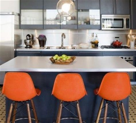 orange navy kitchen orange blue