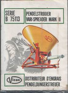 Vicon Fertiliser Vari Spreader Mkii Parts Manual