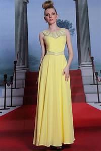 robe soiree longue pas cher en couleur jaune persunfr With robe longue soirée pas cher