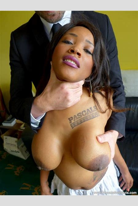 Big Breasted Ebony Sheds White Miniskirt And Pink Top Before Being Fucked By White Guy On The ...