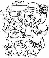 Coloring Winter Pages Kindergarten Printable Sheets Holiday Fun Popular Library Clip sketch template