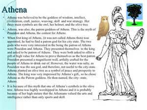 Athena Goddess of Wisdom Symbols