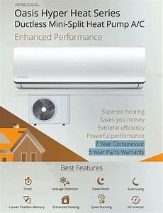 Manual And Guide For Mrcool Oasis Hyper Heat Ductless 9000