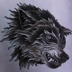 Wolf illustration. Tattoo flash art. | Illustration ...