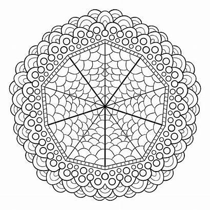 Mandala Coloring Mandalas Pages Unique Adults Patterns