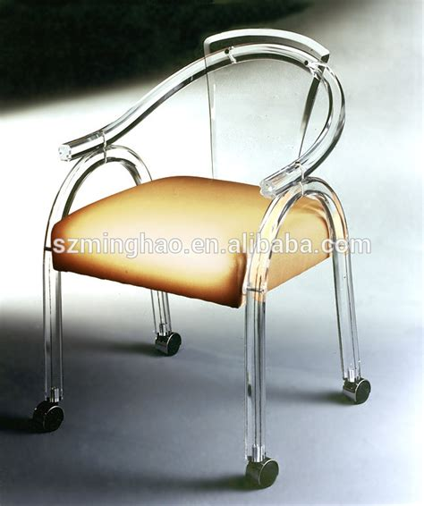 acrylic desk chair with cushion clear acrylic office chair with wheels and cushion buy