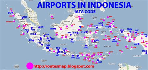airports  indonesia map