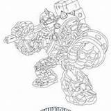 Ausmalen Zum Skylanders Ausmalbilder Giants Crucher Hellokids Bouncer Drobot Coloring sketch template
