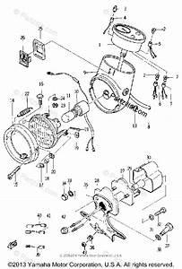 Yamaha Motorcycle 1966 Oem Parts Diagram For Head Lamp