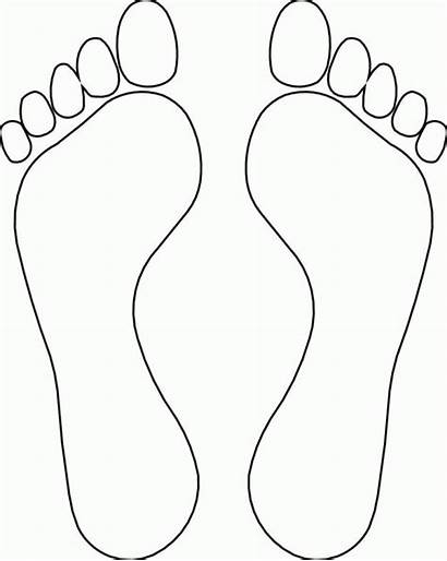 Foot Coloring Pages Bottom Clipart Popular