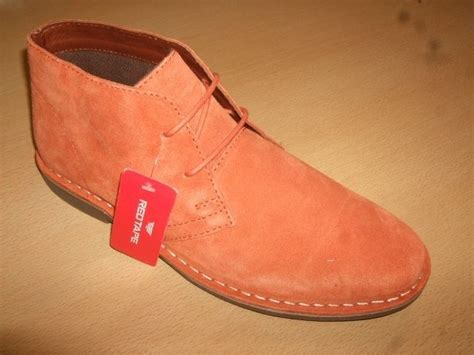 Mens Red Tape Gobi Orange Suede Lace Up Ankle Desert Boots