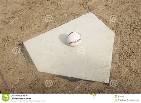 baseball  home plate stock image image  grass base