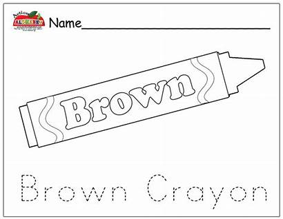 Crayon Brown Coloring Colouring Yellow Crayons Template