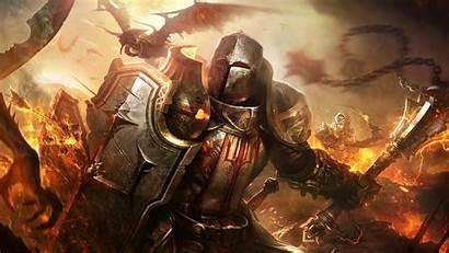 Knights Diablo Fantasy Crusaders Dragon Reaper Shields