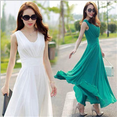 long dress warna hijau cantik  jual model terbaru