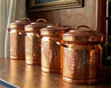 vintage turkish copper canister set beautiful copper  style