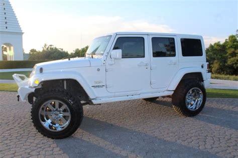 jeep lifted white jeep wrangler sahara loaded custom white hardtop lifted