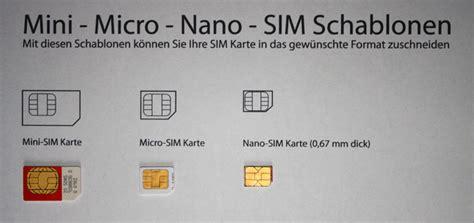 kann man die sim karte zur nano sim stanzen handy