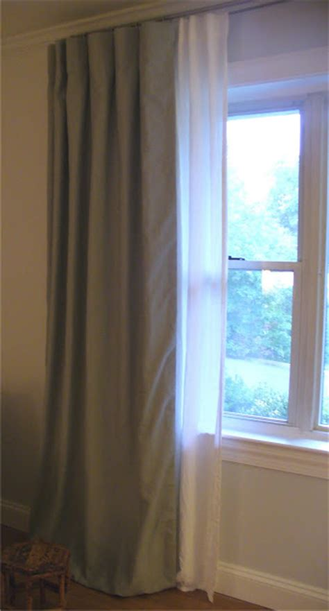 between curtain and drape curtain design