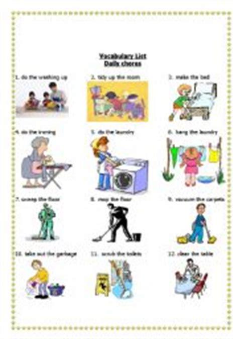 housework daily chores    house esl