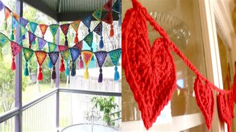 decoracion hogar crochet guirnalda tejida en crochet decoracion hogar youtube