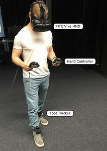 Figure 1  A Participant During The Experiment  Wearing The Htc Vive Hmd  Two Hand Controllers