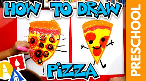 draw pizza preschool art  kids hub