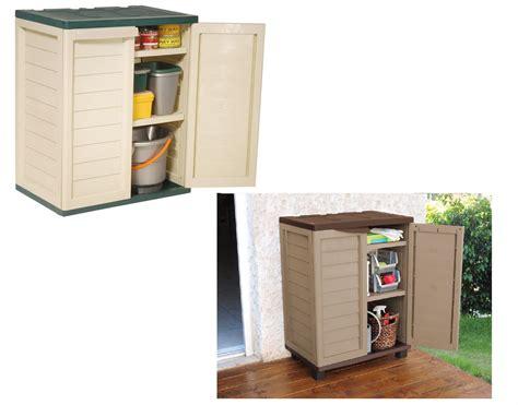 Outdoor Storage Cupboards by Garden Indoor Outdoor Garage Storage Low Utility Cabinet