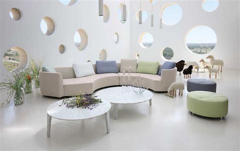 canapé demi cercle canapé demi lune et canapé rond 55 designs spectaculaires