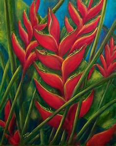 Hawaiian Flowers Paintings