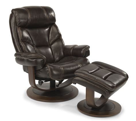 flexsteel living room leather chair and ottoman 1453 co