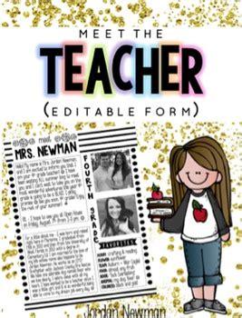 meet  teacher letter editable  jordan melvin tpt