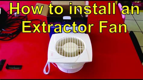 install  extractor fan   cieling youtube