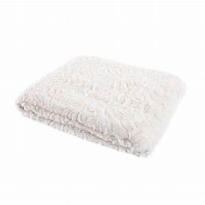 Plaid Blanc Fourrure : plaid aspect fourrure blanc couverture et jet de lit ~ Teatrodelosmanantiales.com Idées de Décoration