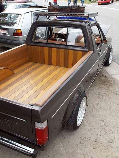volkswagen rabbit truck custom vw volkswagen caddy rabbit pickup with wood bed cars