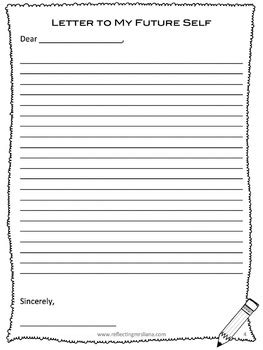 letter to future self template end of year writing activities letter to future student future self