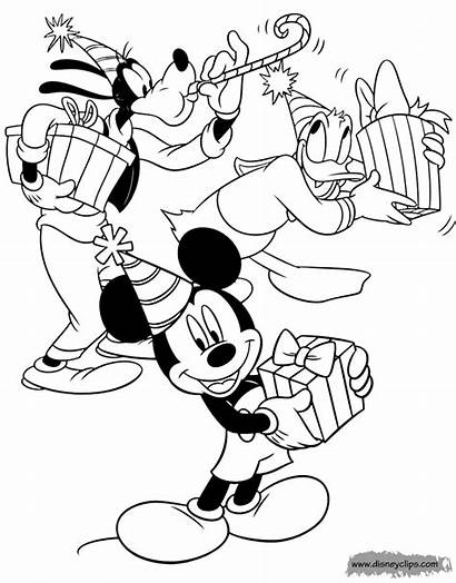 Coloring Mickey Friends Disney Pages Christmas Mouse