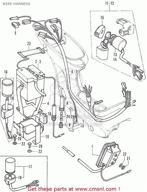 honda cf70 chaly d e u f wire harness schematic partsfiche