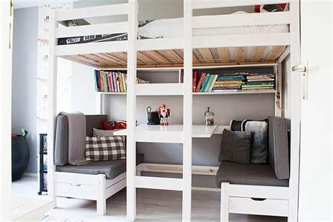 lit mezzanine avec bureau lit mezzanine avec bureau intégré 29 idées pratiques