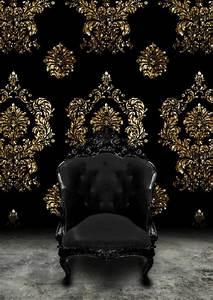 Schwarz Gold Tapete : barock tapete stil aus alten zeiten in zeitgen ssischer form ~ Yasmunasinghe.com Haus und Dekorationen