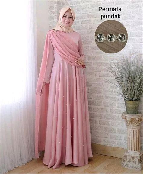 jual party dress gaun dress selendang layer mutiara