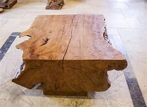 Wohnzimmertisch Glas Holz : beistelltisch couchtisch baumstamm der tischonkel ~ Markanthonyermac.com Haus und Dekorationen