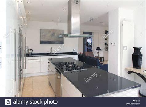 kitchen island extractor fan extractor fan above hob in black granite island unit in