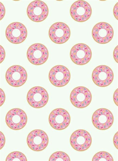 Donut Background Pink Frosted Donuts W Sprinkles Wallpaper Wallpapers