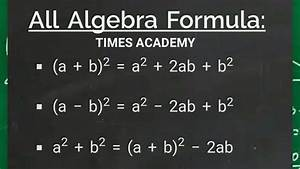 Algebra Formula List  Maths Formula